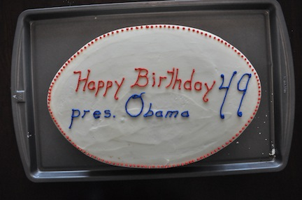 And there we go. A very humble birthday cake for an American President!