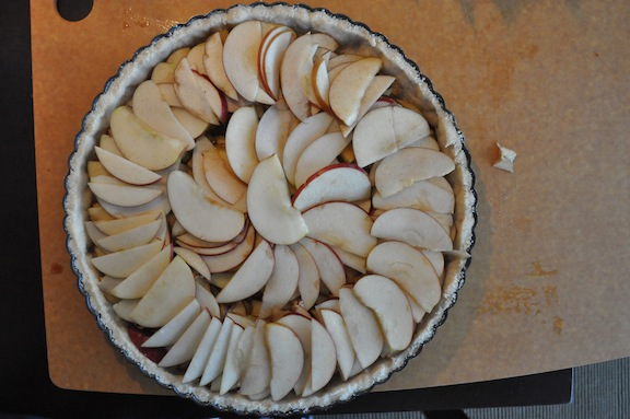 Rustic Apple Tart- Apple Layer Done