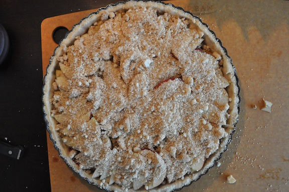 Rustic Apple Tart- Crumb Layer Done