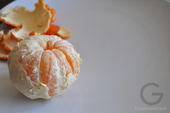 Orange Peels on the dining room table - Godmund