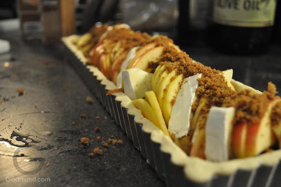 Apple and Brie Tart Recipe before baking Godmund