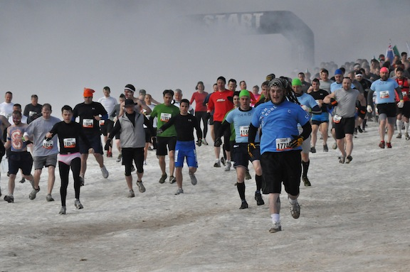 The initial charge at ToughMudder PA 2011