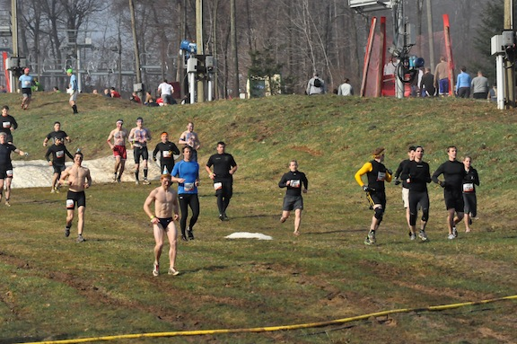 RUnning the first mile at ToughMudder PA 2011