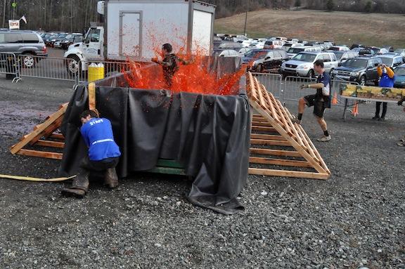 The Blood Bath at ToughMudder PA 2011