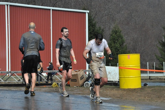 Me and Scott after diving into freezing cold lake at ToughMudder PA 2011