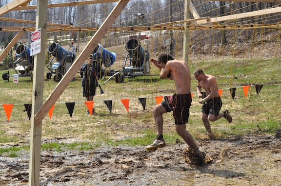 Running through live electrical wires at ToughMudder PA 2011