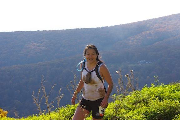 Karen at the top of Toughmudder Virginia 2011!