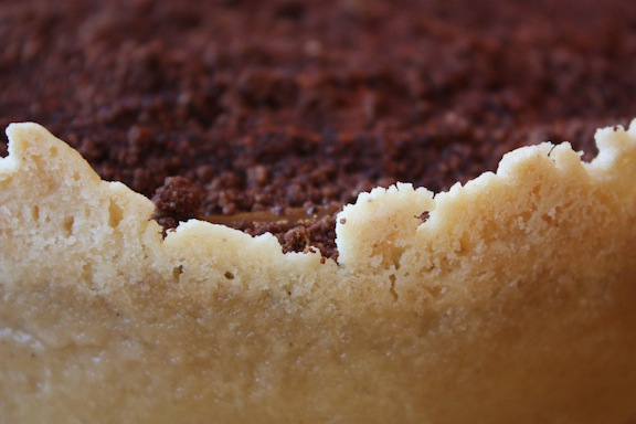image of Pumpkin chocolate and ancho chili cheesecake topping and crust
