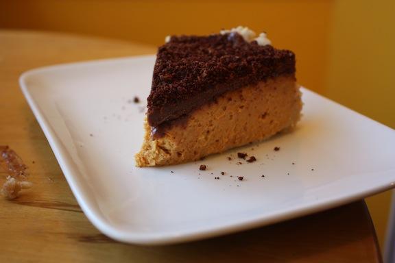 image of Pumpkin chocolate and ancho chili cheesecake