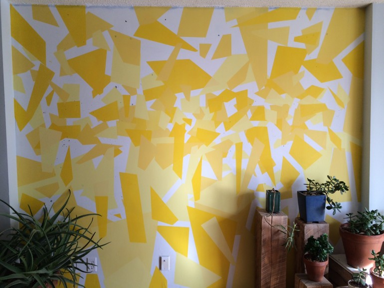 image of new painted feature wall in my living room